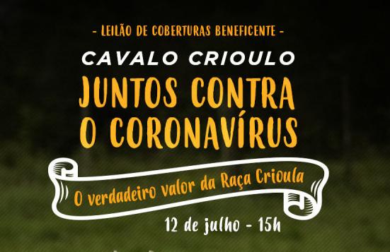 Leilão de coberturas encerra Campanha contra o Coronavírus em live no domingo (12)
