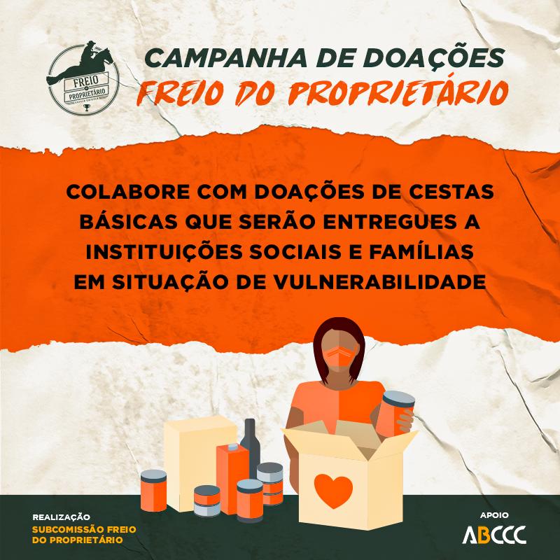 Subcomissão do Freio do Proprietário inicia campanha para arrecadação de cestas básicas