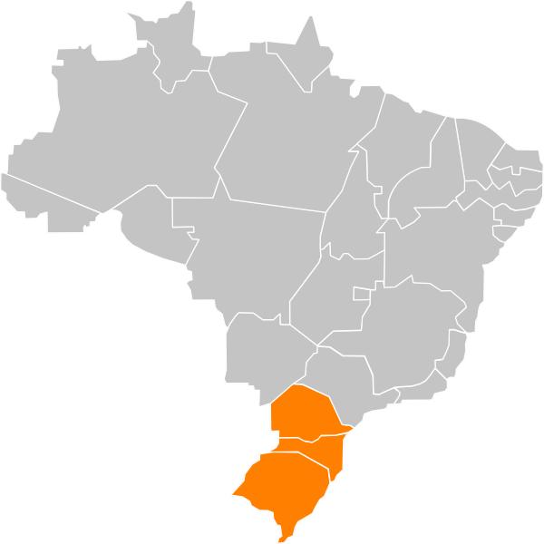 Mapa de Regiões